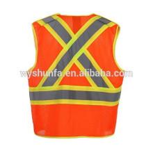 Cinta de seguridad de poliéster de alta visibilidad PVC, chaleco de alta visibilidad