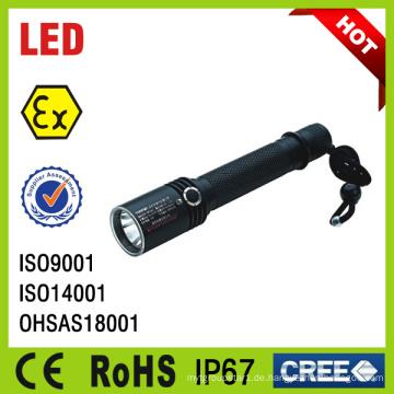 IP67 Portable wiederaufladbare Mini LED explosionsgeschützte Taschenlampe Lampe