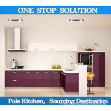 Moderner Hochglanz-Lack / PVC-Küchenschrank