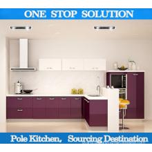 Gabinete de cozinha moderna de Lacquer / PVC de alto brilho