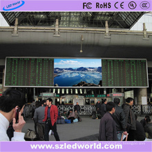 Panneau de signe de LED P6 d'intérieur polychrome dans la gare