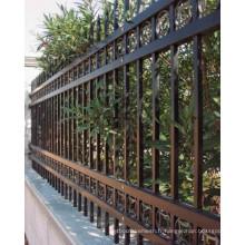 Clôture en acier décoratif en poudre extérieure