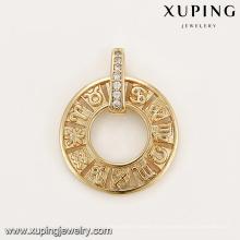 33203 Les derniers bijoux pendentif boussole conçus graver pendentif Zodiac à vendre