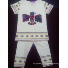 Summer Kids Girl Suit pour les vêtements pour enfants