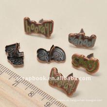 Metall Buchstaben basteln brads