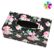 Creative Rectangle Leather Tissue Box (ZJH071)