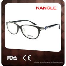2017 Lady acetato material con metal ajustable almohadillas para nariz acetato material gafas ópticas gafas