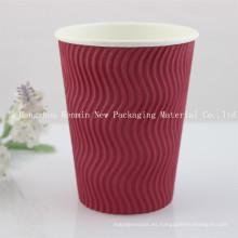 Corrugado, ondulación, pared, papel, taza, caliente, café, taza