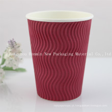 Corrugado, ondulação, parede, papel, copo, quentes, café, copo