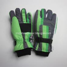 Custom Children Striped Design Ski Gloves