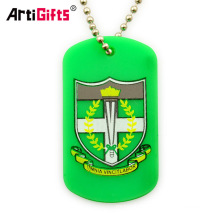 Custom magnetic rubber plastic military army dog tag pendant for men