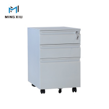 China 3 Drawer Metal Cabinet Wheeled / Steel File Cabinet with Wheels