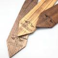 Gravierte benutzerdefinierte Logo Sapelli Männer Holz Krawatte