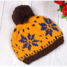 Winter Hat Knitted Hat with Fur POM POM Women Hat