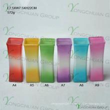 Moderne Hand Made Glas Vase / Hand Made Clear Glas Blume Vase Quadrat Maschine Pressed Clear Glas Blume Vase