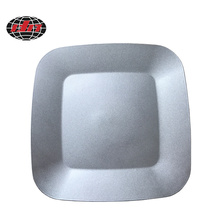 Silver Square Banquet Plastic Charger Plate