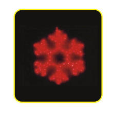 LED Motif Light, 2d Snowflake