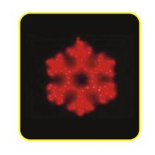LED Motif Light, 2d Snowflake