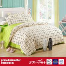 Tampa de cama impressa combinação escovada verde de Microfiber da tela