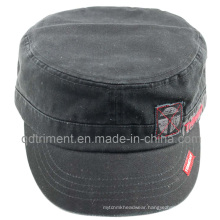 Washed Applique Embroidery Army Leisure Military Hat (TMM8138)