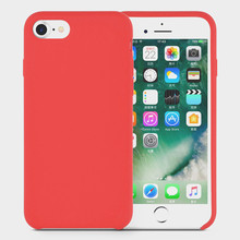 Red Liquid Silicone Phone Case for iPhone 6s Cover