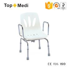 Topmedi Bathroom Accessories Portable Adjustable Height Steel Shower Chair