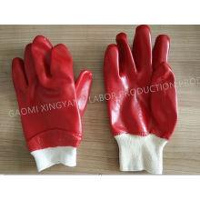 Algodón Interlock PVC guante de trabajo de seguridad recubierto (P9002)