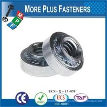 Hecho en Taiwán Aluminio o acero inoxidable Self Clamping Nuts