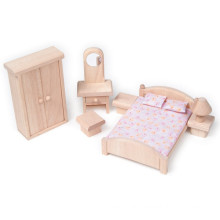 Wooden Mini Furniture Toys Small Natural Bedroom Pretend Play Toy YT1117