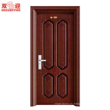 VENTAS CALIENTES Puertas ShuangYing Puertas interiores de acero-FLORES DE PRIMAVERA Puertas de acero inoxidable de pomelo rojo birmano para el hogar