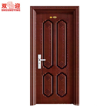 Conception moderne de porte de sécurité en acier de porte principale en acier de Saftey