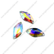 Pujiang Wholesale cose en los granos de piedra de cristal para el accesorio de la ropa