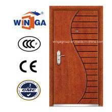 Puerta blindada de la chapa de MDF del acero de la seguridad del Winga del estilo del arte (WA-9)