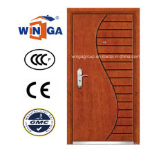 Style artistique Winga Security Steel MDF Veneer Armored Door (WA-9)