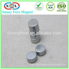 n35 n42 zinc plated cylindrical magnet