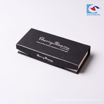 wholesale black silver stamping mink eyelash box packaging custom logo magnetic cardboard