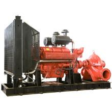 Pompes à eau submersibles de lutte contre l'incendie de pompe à eau d'égout d'aspiration de moteur diesel