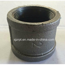"""2"""" Malleable Iron Pipe Fitting Black Banded Socket"""