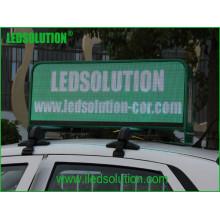 Pistas completas de Withdouble da exposição de diodo emissor de luz da parte superior do táxi da cor P5 de Ledsolution