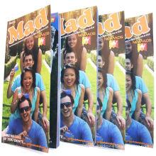 Custom Glue Binding Embossing Brown Kraft Paper Booklet Printing / Colour Booklet Printing