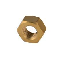 Écrou en laiton DIN934 écrou hexagonal de couleur écrou en laiton