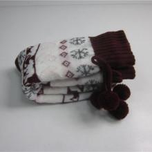 Warm High Quality Bow Tie Jacquard Floor Socks