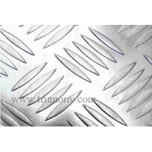 Fünf Stangen Muster Checkered Aluminium Platte N012