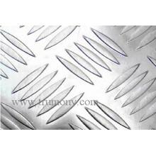 Cinco patrones de barras de chapa de aluminio a cuadros N012