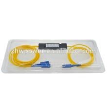1x2 FBT Séparateur de fibre optique passif, SC coupleur / répartiteur de fibre optique PC 1310 / 1550nm