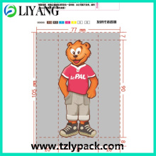 Bear Character, Heat Transfer Film for Plastic, Pet