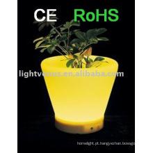 Potenciômetros luminosos recarregáveis em mudança da plantação da cor do potenciômetro de flor IP54 RGB do diodo emissor de luz da decoração
