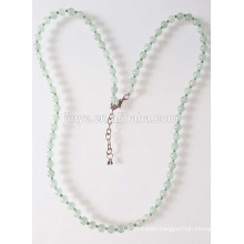 Handmade Elegant Green Natural Stone Beaded Necklace