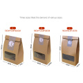 Сухие фруктовые орехи Крафт-бумага Упаковка с прозрачной сумкой из ПВХ