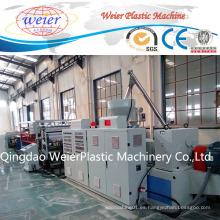 Línea de la protuberancia de la hoja de la techumbre del PVC, máquina de la fabricación de la hoja de la techumbre del PVC